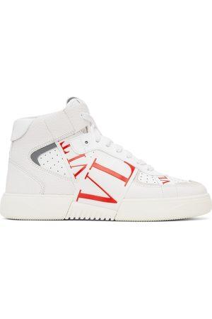 Valentino Garavani White & Red 'VL7N' High-Top Sneakers
