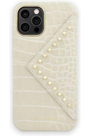 IDEAL OF SWEDEN Mobil Covers - Statement Case iPhone 12 Pro Beatstuds Cream Croco
