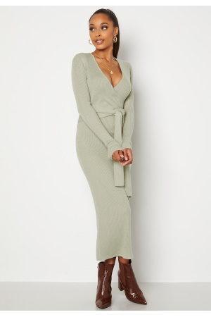BUBBLEROOM Kvinder Strikkede kjoler - BUBBEROOM Ines knitted dress ight green