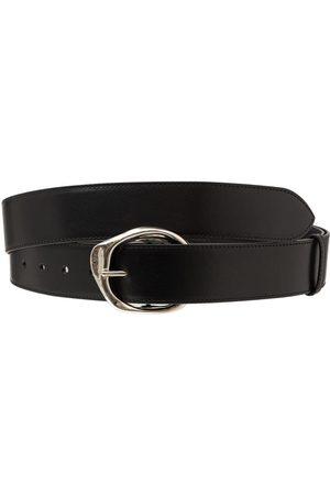 Alexander McQueen Long Molten Ecolux Leather Belt