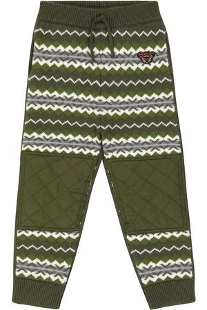 Burberry Kids Wool and cashmere knit sweatpants