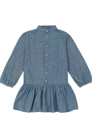 Ralph Lauren Kvinder Maxikjoler - Long-sleeved cotton chambray dress
