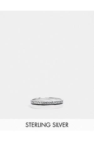 ASOS — Sølvring i sterlingsølv med tekstur