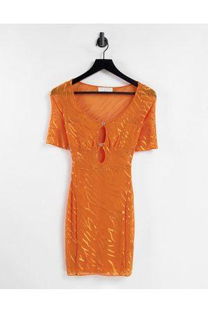 EI8TH HOUR Kvinder Bodycon kjoler - Bodycon-minikjole med udskæringsdetaljer og zebraprint-Multifarvet