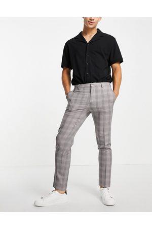Burton Burton - skinny-habitbukser med bordeaux tern