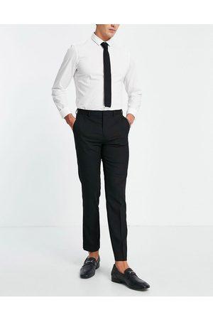 Burton Menswear Burton Essential - Sorte slim fit-bukser med stretch