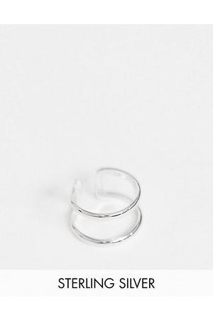 ASOS Ring i sterling med dobbelt bånd-design i
