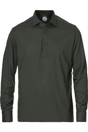 Mazzarelli Mænd Poloer - Washable Merino Wool Polo Forest