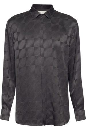 Saint Laurent Yves Jacquard Silk Shirt