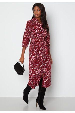 ONLY Kvinder Casual kjoler - Nova Lux 3/4 Long hirt Dress Red Dahilia
