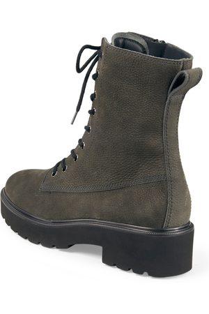 Paul Green Kvinder Støvler - Snørestøvletter i kalveruskind Fra grå