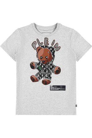 Philipp Plein Kortærmede - T-Shirt - Teddy Bear - Grey