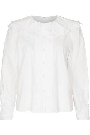 Designers Remix Langærmede skjorter - Skjorte - Sandra Lace Collar - Cream