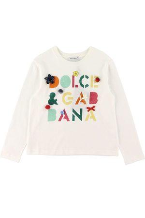 Dolce & Gabbana Bluse - m. Tekst/Knapper