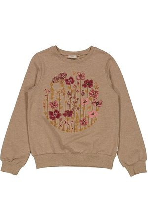 WHEAT Sweatshirt - Flower Circle Embroidery - Khaki Melange