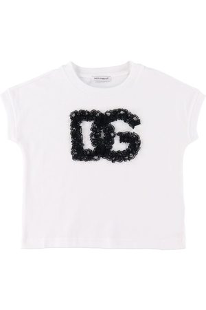 Dolce & Gabbana Kortærmede - T-shirt - 90's - / m. Blonder
