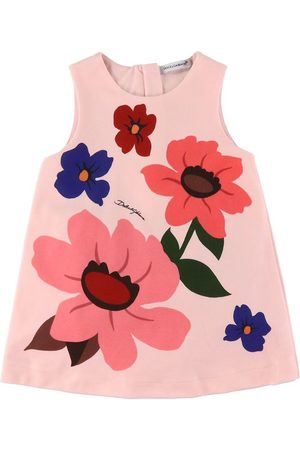 Dolce & Gabbana Trusser - Kjole m. Bloomers - DG Pop - Rosa m. Blomster