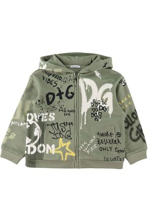 Dolce & Gabbana Cardigans - Cardigan - DG Skate - Støvet m. Graffiti