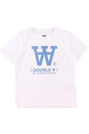 WoodWood Kortærmede - T-Shirt - Ola - White/Blue Print