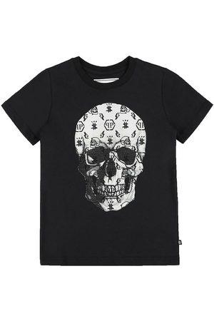 Philipp Plein Kortærmede - T-Shirt - Stones Skull - Black/White