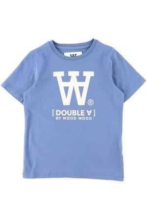 WoodWood Kortærmede - T-Shirt - Ola - Vintage Blue