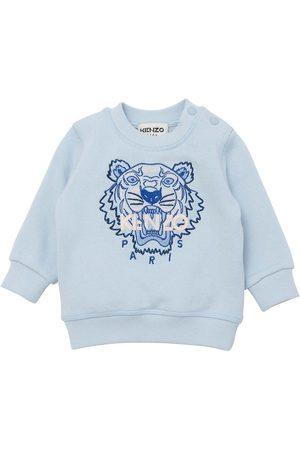 Kenzo Sweatshirts - Sweatshirt - Pale Blue m. Tiger