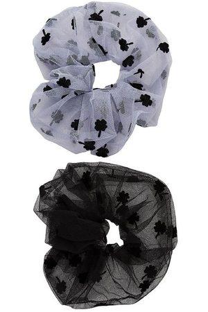 Little Pieces Scrunchie - 2-pak - LpJeppa - Purple Heather/Black