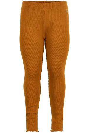 Minymo Leggings - Leggings - Rib - Glazed Ginger m. Flæse