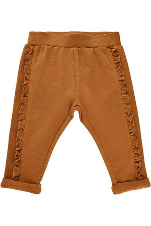 Minymo Joggingbukser - Sweatpants - Glazed Ginger m. Frynser
