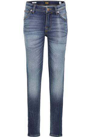 """jack & jones Mænd Skinny - Boys Dan Fox Skinny Fit Jeans Mænd Blue"""",""""Brown"""