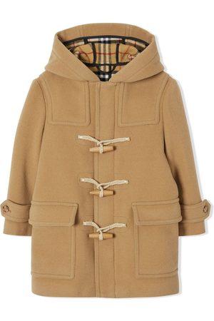 Burberry Kids Dobbeltsidet duffelcoat-frakke i uld