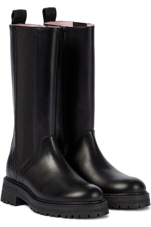 Emporio Armani Knee-high leather boots