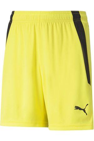 PUMA Mænd Shorts - TeamLIGA Shorts Jr Fluo Yellow- Black