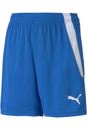 PUMA Mænd Shorts - TeamLIGA Shorts Jr Electric Blue Lemonade- White