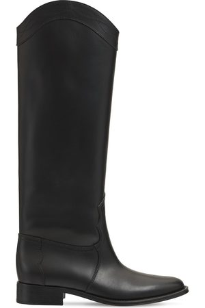 SAINT LAURENT 30mm Kate Leather Tall Boots