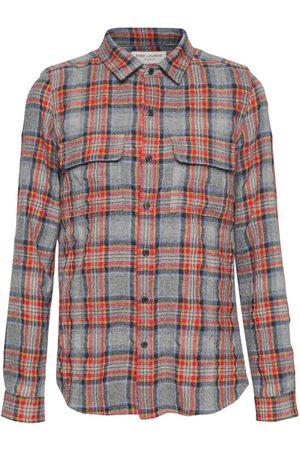 SAINT LAURENT Mænd Langærmede skjorter - Check Wool & Cotton Shirt