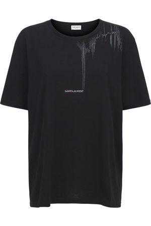 Saint Laurent Cotton Crewneck T-shirt