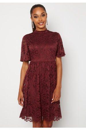 Happy Holly Kvinder Festkjoler - Li lace dress Wine-red
