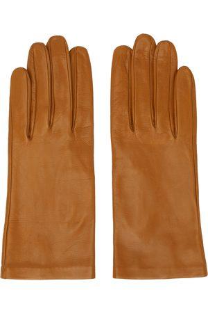 DRIES VAN NOTEN Tan Leather Gloves