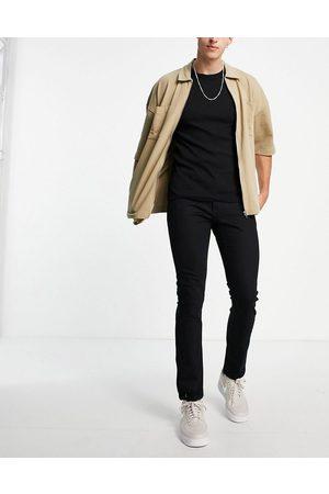 Topman Mænd Slim - Sorte Slim-jeans med stretch