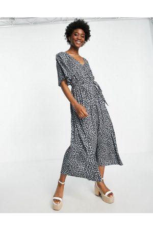 French Connection Kvinder Mønstrede kjoler - Printet midikjole i blå
