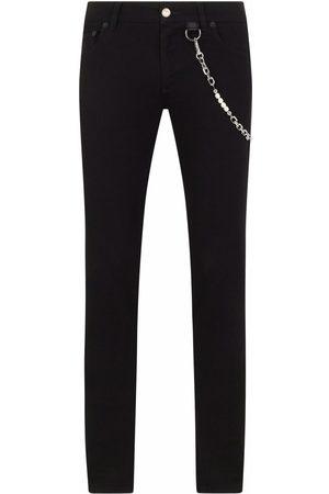 Dolce & Gabbana Mænd Slim - Denimjeans med kædedetalje