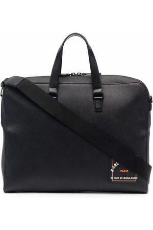 Karl Lagerfeld Mænd Laptop Tasker - Saffiano mappe med logo