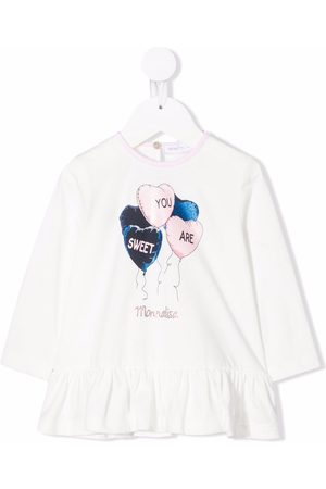 Monnalisa Baby Langærmede - Langærmet T-shirt med grafisk print