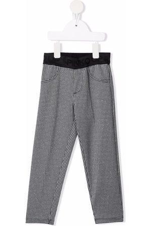 Pinko Kids Houndstooth-ternede pull-on bukser