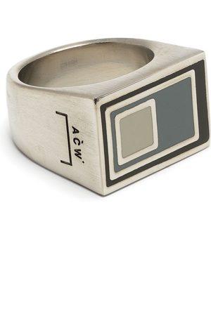 A-COLD-WALL* Mænd Ringe - Vertical laserindridset ring