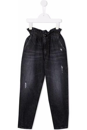 Dondup Kids Piger Straight - Jeans med lige ben og paperbag-talje