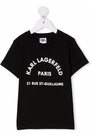 Karl Lagerfeld Kids Drenge Kortærmede - T-shirt med logo-bogstaver