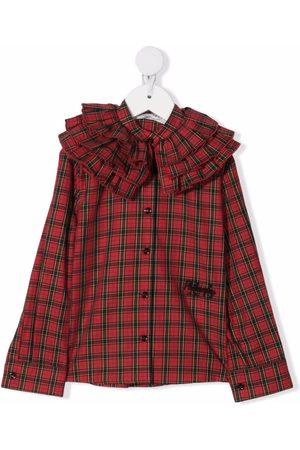 Philosophy Di Lorenzo Serafini Kids Piger Langærmede skjorter - Skjorte med frynset krave og logobroderi