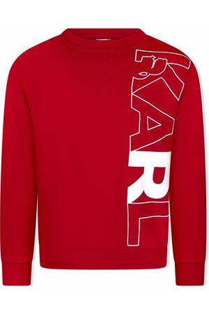Karl Lagerfeld Sweatshirt i bomuldsblanding med Karl-tryk